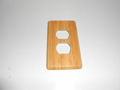 Bamboo Natural Satin Duplex Outlet Plate