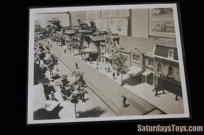 "1954 Disneyland Model b/w Photograph 8"" x 10"" Vintage Main Street, U.S.A. Disney"