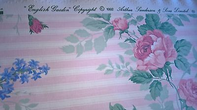 "Sanderson Vintage Curtain Fabric ""english Garden"" 1992 - 190Cm Long 137 Wide"