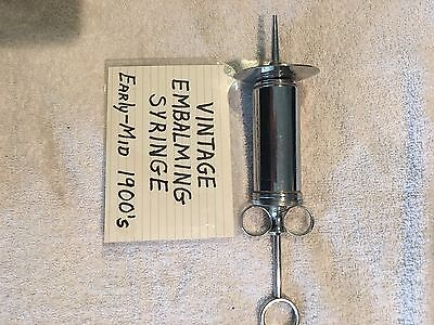Antique Randal Matchless Embalming Syringe Medical Tool And Embalming Tube