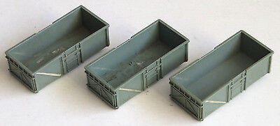 3 x Triang TT gauge mineral wagon body, spares, TT scale, T70