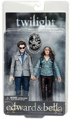 "TWILIGHT - Edward & Bella 7"" Action Figure 2-Pack (NECA) #NEW"