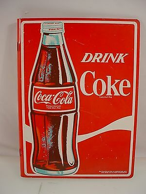 Vintage Coca Cola Sign Coke Double Side Flange Sign Drink Coke Bottle