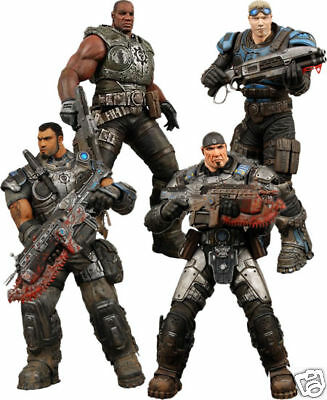 """GEARS OF WAR - Delta Squad Boxed 7"""" Action Figure Set (NECA) #NEW"""