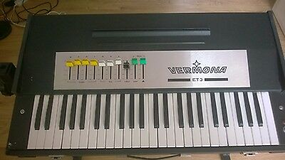 Vermona Et3-1 Vintage Analog Combo Organ 70's Ddr - East German, Lid-Case