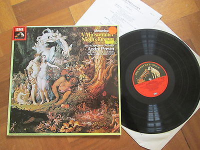 Mendelssohn A Midsummer Night's Dream Previn Lso Emi Asd 3377 Quadrophonic