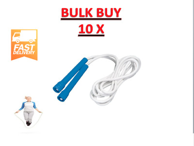 10x SKIPPING ROPES BOXING JUMP ROPE FOR HEART fitness crossfit BULK BLUE 3.0m
