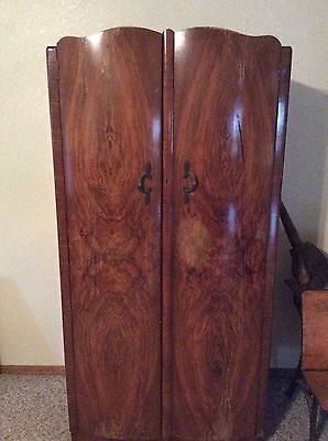 Antique Armoire Buryl Wood