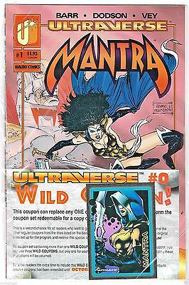 Ultraverse Mantra #1 Malibu (1993 Series 1) In Bag With Promo Card Comic Book MT