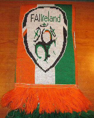 FAI Ireland Football Soccer Scarf ~ Orange & Green