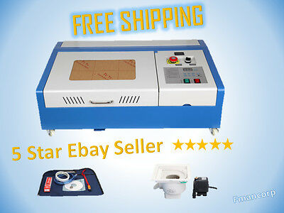 40W CO2 Laser Engraving Cutting Machine Engraver Cutter W/ Wheels 1080P (Tested)