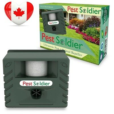 6 in 1 Pest Soldier Sentinel, Outdoor Electronic Animal Ultrasonic Repeller,...