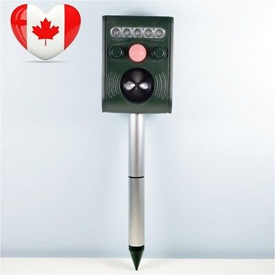 Ultrasonic Animal Repeller Adjustable Frequency, Keep Cats Dogs...