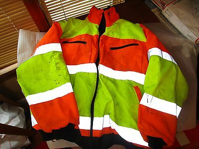 Ww Insulated Safety Bomber Reflective Jacket Coat Road Work High Visibility