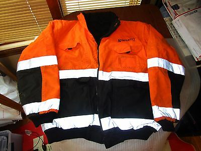 Simplicity Usa Insulated Safety Reflective Jacket Coat Road Work High Visibility