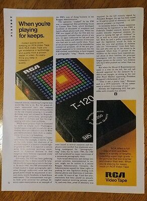 1984 RCA Video Tape VHS VCR Playing for Keeps Vintage 1980's Original Print Ad