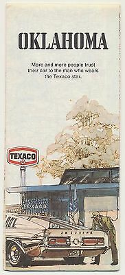 VINTAGE 1974 OKLAHOMA TEXACO STAR GAS STATION OIL Road Map MAN CAVE SIGN RM33