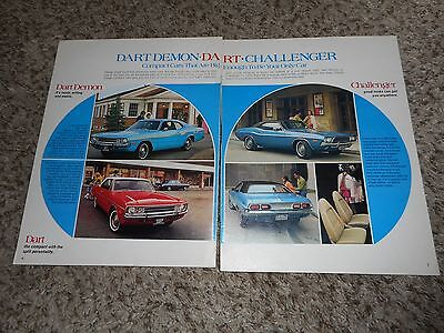Vintage Original 1972 Dodge Dart Demon Challenger Magazine Ad Advertisement