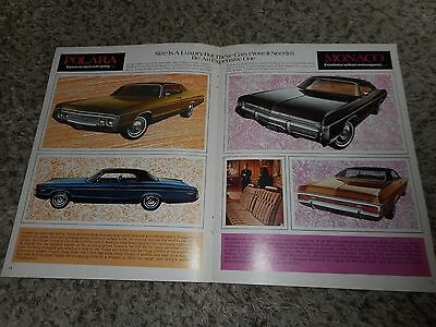Vintage Original 1972 1973 Dodge Polara Monaco Magazine Ad Advertisement