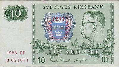 Kingdom of Sweden 1988 10 Kronor #B021071