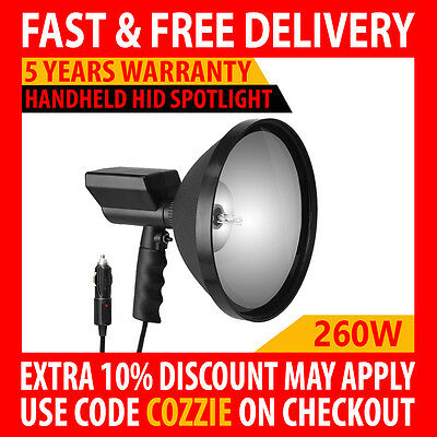 "260W Hid 9"" Handheld 240Mm Camping Spot Light Spotlight Hunting Fishing Offroad"