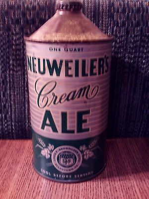 Very Nice Neuweiler's Cream Ale Quart Cone Top - Allentown, PA