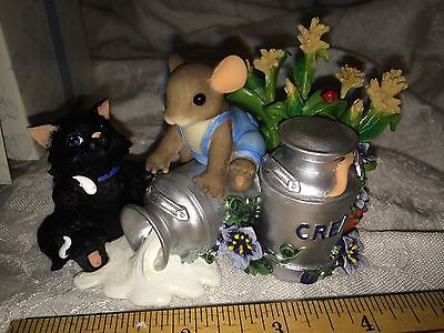 """Charming Tails """"you're The Cream Of The Crop""""  Nib Special Edition Black Cat"""