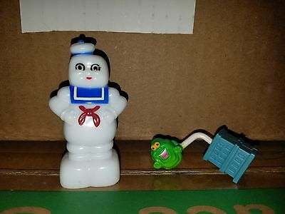 Vintage Ghostbusters Lot Stay Puft Pencil Sharpener Slimer Pencil Topper