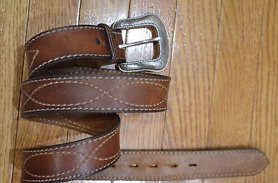 Orvis Crossroads Leather Belt Size 40 Waist Listed For $89 Made In Usa
