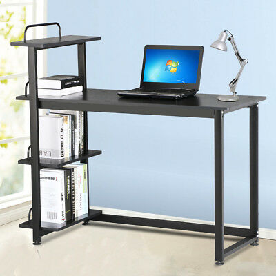 Computer Desk W/4-Tier Book Shelf Home Office PC Laptop Study Workstation Table