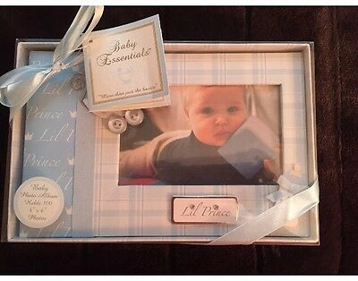 """BABY ESSENTIALS PHOTO ALBUM LIL PRINCE 100 4""""x6"""" PICTURES NWB"""
