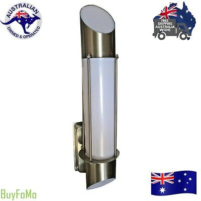 Set of 2  LED Modern Stainless Steel Outdoor House Garden wall lights