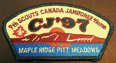 BOY SCOUTS CANADA  9th CANADIAN JAMBOREE 1997  MAPLE RIDGE EMBROIDERED PATCH