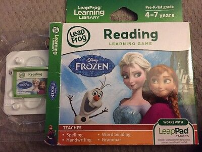 Reading Learning Game, Ages 4-7, Frozen, Disney, Work With Leap Pad Tablets