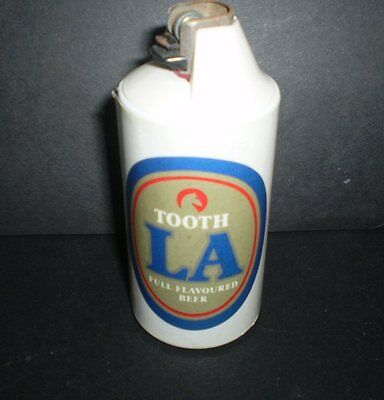 Vintage can shaped lighter and holder -  Tooth LA