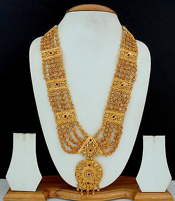 Indian Jewelry Party Necklace Gold Plated Ethnic Beautiful Long Necklace LE43