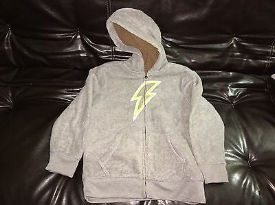 Childrens Place Boys Hoodie Size Large Gray Zip Up Lined Medium (7/8)