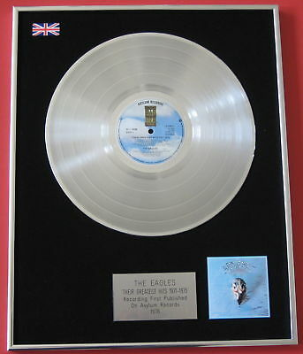 THE EAGLES Greatest Hits PLATINUM LP Disc Presentation