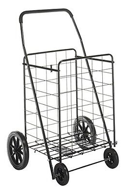 Whitmor Deluxe Rolling Utility Shopping Cart Black Carts Baskets Retail Services