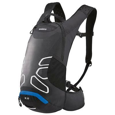 Shimano Rokko All Round Day Pack, 12 Liter, Ash Black/lightning Blue Bag