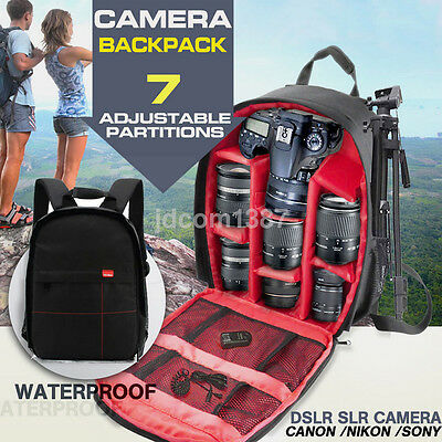 Economic Waterproof DSLR Camera Backpack Shoulder Bag Case For Canon Nikon Sony
