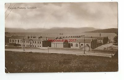 Scotland Greenock Torpedo Factory Real Photo Vintage Postcard