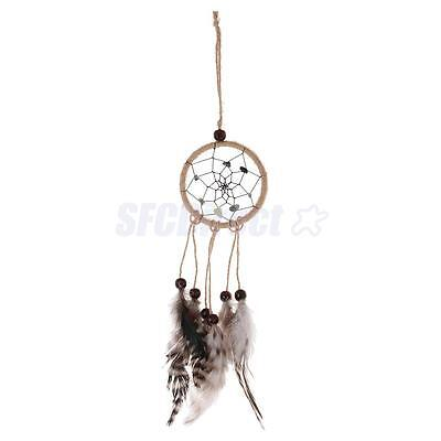 Vintage Dream Catcher Wall Hanging Decoration Ornament with Bead Feather
