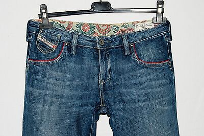 DIESEL 'CHEREN' jeans donna women's W27 L32 40/42 ITA made in Italy cotone