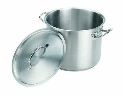 Crestware 16-Quart Stainless Steel Stock Pot with Pan Cover