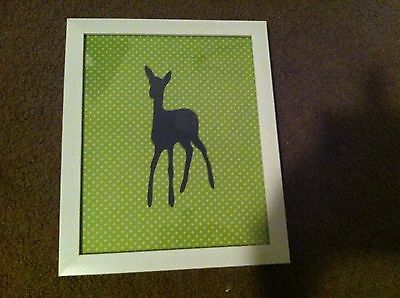 woodlands deer print white children's photo frame nursery baby gift