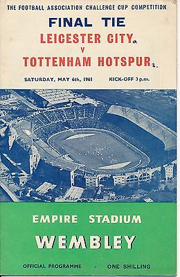 FA CUP FINAL PROGRAMME 1961: Tottenham v Leicester City