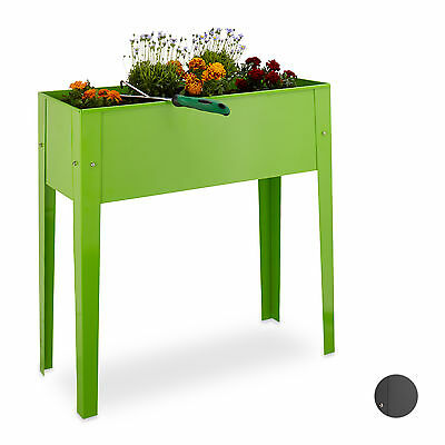 Raised Metal Flower Bed with Legs, Sturdy, Narrow, for Balcony Patio Garden