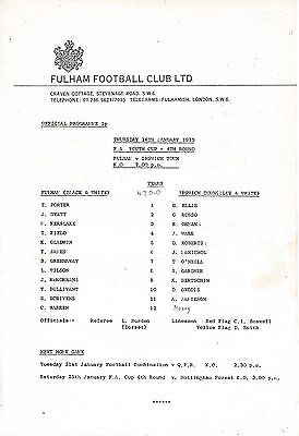 Fulham v Ipswich Town (FA Youth Cup) 1974/5