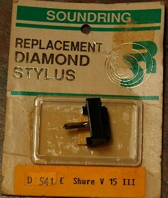 Record Player Needle Stylus Soundring 541 SHURE Replacement Stylus